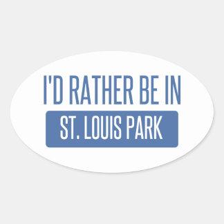 Adesivo Oval Parque de St Louis