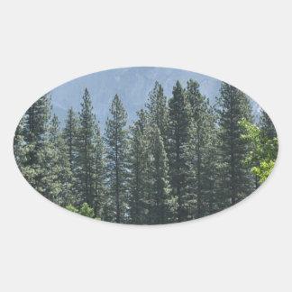 Adesivo Oval Parque nacional de Yosemite