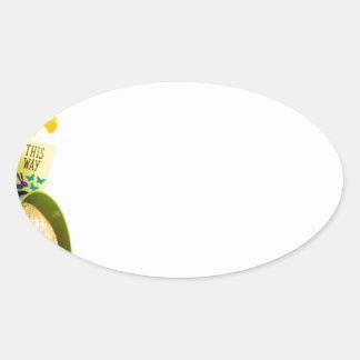 Adesivo Oval Páscoa