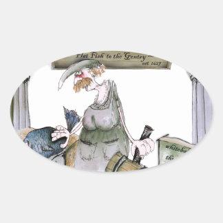 Adesivo Oval peixes lisos de yorkshire do amor