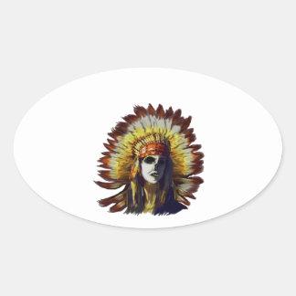 Adesivo Oval Pena amarela