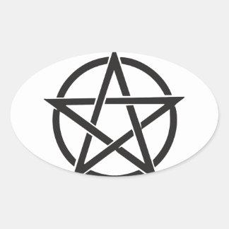 Adesivo Oval Pentagram