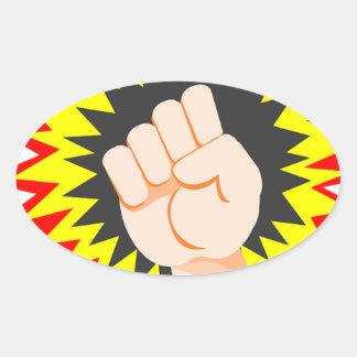 Adesivo Oval Perfurador da energia do poder do braço da força