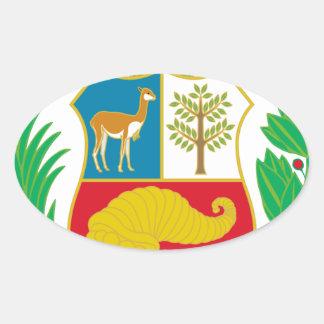 Adesivo Oval Peru - escudo Nacional (emblema nacional)
