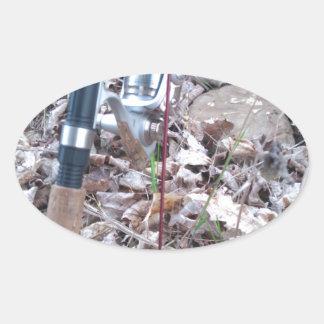 Adesivo Oval Pescador