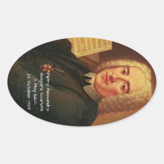 Adesivo Oval Pietro Alessandro Gaspare Scarlatti