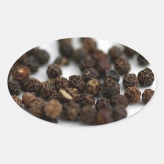 Adesivo Oval Pimenta preta