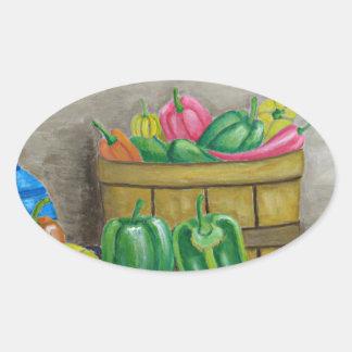 Adesivo Oval pimentas