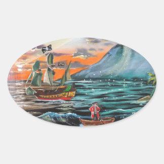 Adesivo Oval Pintura de Bell do funileiro da angra do gancho de