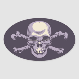 Adesivo Oval Pirata Nerdy