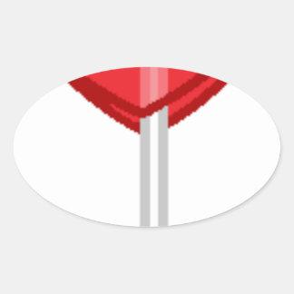 Adesivo Oval pirulito vermelho do coração
