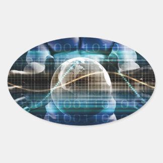 Adesivo Oval Plataforma da segurança do controlo de acessos