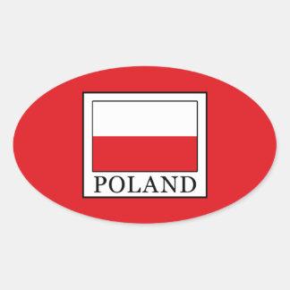 Adesivo Oval Polônia