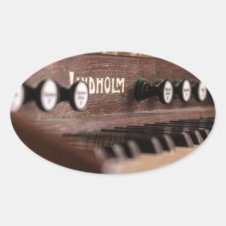 Adesivo Oval Polônia antigo velho da música do instrumento do