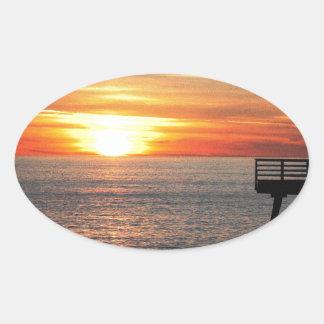 Adesivo Oval Por do sol
