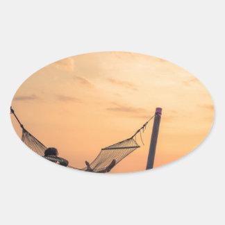 Adesivo Oval Por do sol de Bali