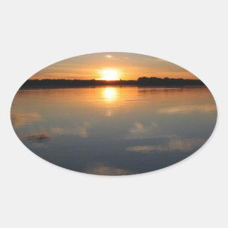 Adesivo Oval Por do sol de Missouri