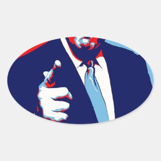 """Adesivo Oval Poster 2017 da paródia do """"medo"""" de Donald Trump"""