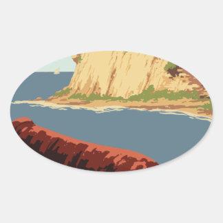 Adesivo Oval Poster Puerto Rico das viagens vintage