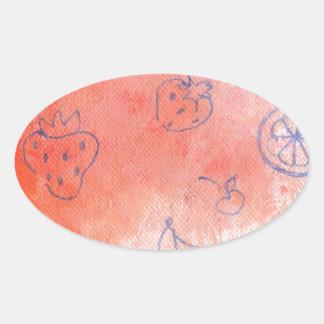 Adesivo Oval prado maduro