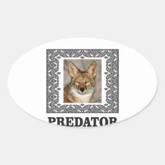 Adesivo Oval Predador afiado