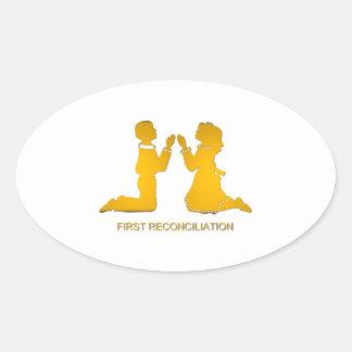 Adesivo Oval Primeira reconciliação