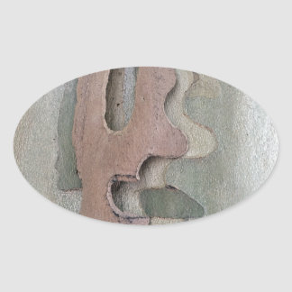 Adesivo Oval projetado por natureza