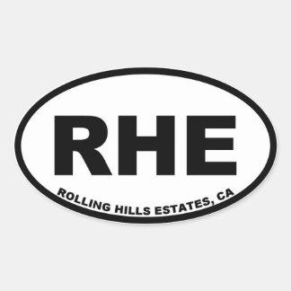 Adesivo Oval Propriedades de RHE Rolling Hills ovais