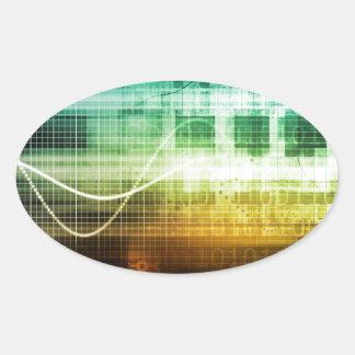 Adesivo Oval Protecção de dados e exploração da segurança do