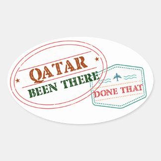 Adesivo Oval Qatar feito lá isso