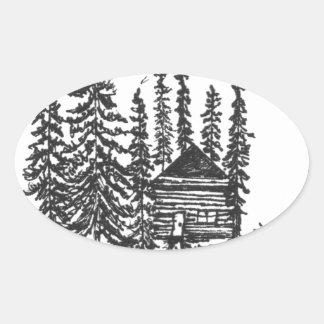 Adesivo Oval Quando você precisar um bocado da casa