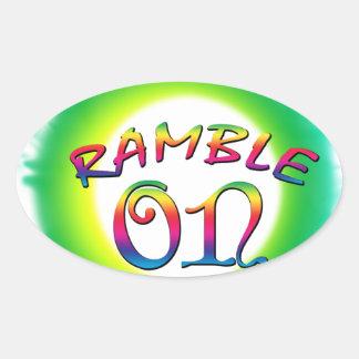 Adesivo Oval Ramble sobre