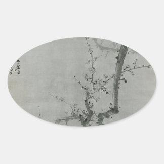 Adesivo Oval Ramo da ameixa - Yi Yuwon