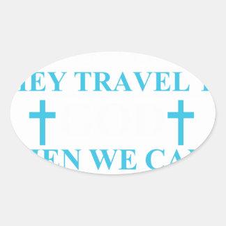 Adesivo Oval rasgos+seja+orações