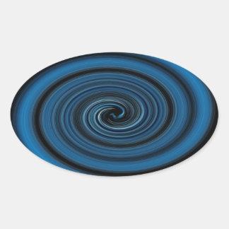 Adesivo Oval Redemoinho abstrato