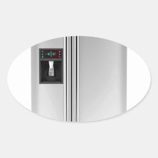Adesivo Oval Refrigerador grande