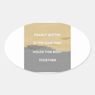 Adesivo Oval Regras da manteiga de amendoim