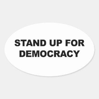 Adesivo Oval Represente acima a democracia