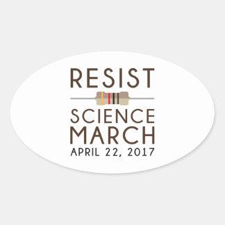 Adesivo Oval Resista a ciência março