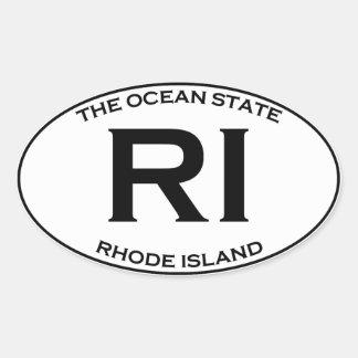 Adesivo Oval RI - Rhode - ilha