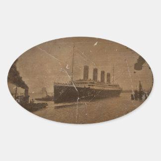 Adesivo Oval RMS Southampton titânico
