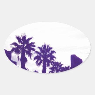 Adesivo Oval Roxo de San Diego