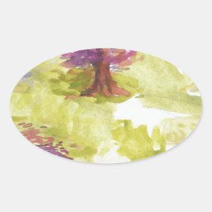 Adesivo Oval sakura