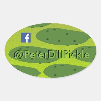 Adesivo Oval Salmoura Dil oval de Peter