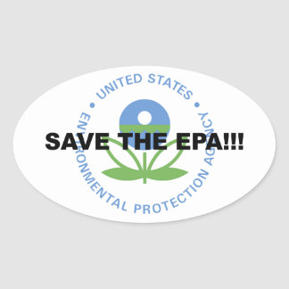 Adesivo Oval Salvar o EPA