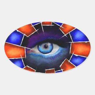 Adesivo Oval Salvenitus - olho de observação