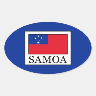 Adesivo Oval Samoa
