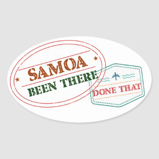 Adesivo Oval Samoa feito lá isso