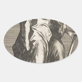 Adesivo Oval Santo Jude (ou santo Matthias)