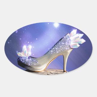 Adesivo Oval Se os ajustados dos calçados
